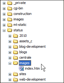 Prepared folder for nfoCentrale Status  images