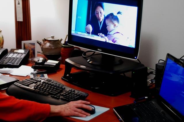 2001-03-12: 2010-03-12 Vicki's Scritto Computer in Daily Use