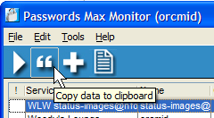 Moving the password from the safe to the clipboard for adding to the Live Writer FTP Account Parameters