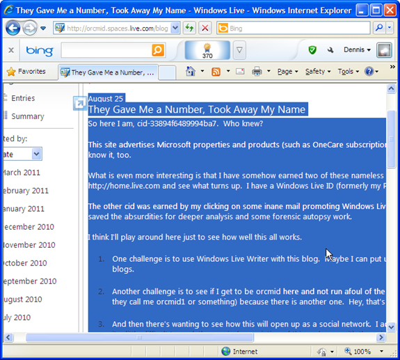 Scraping the browser view of the post by selecting the page body and copying it to the Windows clip-board
